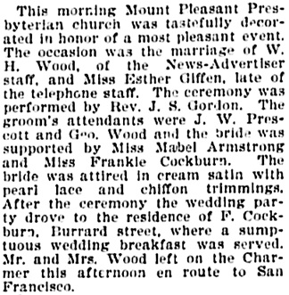 Vancouver Daily World, June 25, 1896, page 8, column 4.