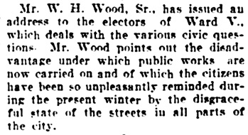 Vancouver Daily World, January 9, 1906, page 16, column 5.