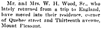 Vancouver Daily World, May 20, 1905, page 6, column 3.