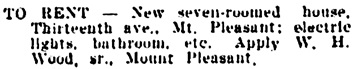 Vancouver Daily World, October 5, 1903, page 6, column 2.