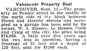 Victoria Daily Colonist, September 23, 1909, page 5; http://archive.org/stream/dailycolonist19090923uvic/19090923#page/n4/mode/1up.