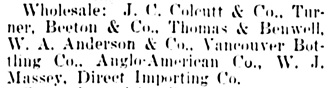 Vancouver Daily World, June 22, 1900, page 8, column 4.