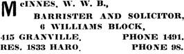 Henderson's City of Vancouver Directory, 1907, page 593.