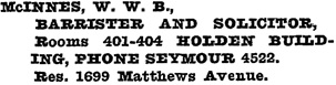 Henderson's Vancouver Directory, 1920, page 751.