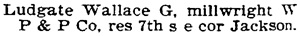 Portland, Oregon, City Directory, 1897, page 684, column 2.