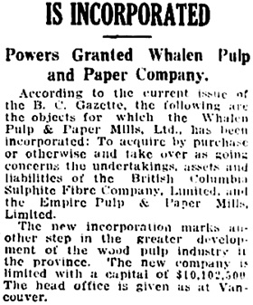 Vancouver Daily World, May 5, 1917, page 10, column 7.
