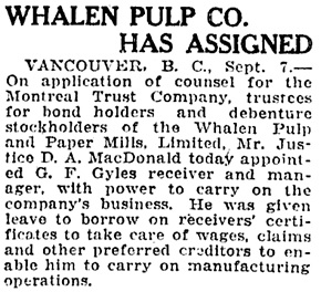 The Ottawa Citizen, September 8, 1923, page 27, column 2.
