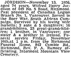 Vancouver Province, November 14, 1956, page 44; Vancouver Sun, November 14, 1956, page 38; https://news.google.com/newspapers?id=9DtlAAAAIBAJ&sjid=wYkNAAAAIBAJ&pg=1192%2C2763982.