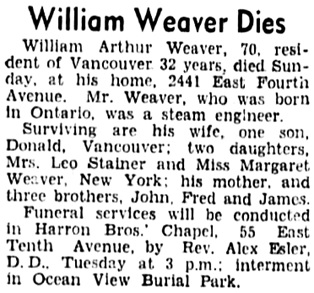 Vancouver Sun, January 25, 1937, page 2, column 3.