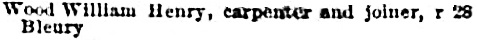 Montreal directory, 1884-1885, page 629, column 2.
