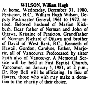 The Ottawa Citizen, January 5, 1981, page 25, column 6.