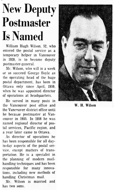 The Ottawa Citizen, June 13, 1961, page 7, columns 4-5.
