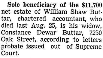 Vancouver Sun, November 15, 1938, page 22, column 2.