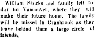 Cranbrook Herald, May 11, 1905, page 3, column 1; https://open.library.ubc.ca/collections/bcnewspapers/cranherald/items/1.0068192#p2z2r0f: