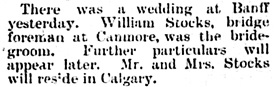 """Friday's News,"" The Calgary Weekly Herald, May 20, 1897, page 3, column 1."