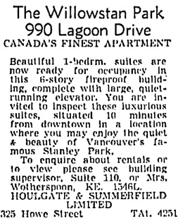 Vancouver Sun, December 31, 1953, page 25, column 3.