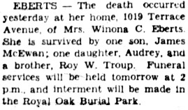 Victoria Daily Colonist, November 2, 1939, page 5, column 1; http://archive.org/stream/dailycolonist1139uvic_0#page/n4/mode/1up.