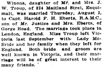 Victoria Daily Colonist, August 5, 1917, page 6, column 4; http://archive.org/stream/dailycolonist59y205uvic#page/n5/mode/1up.