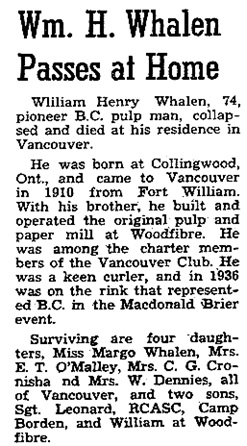 The Coast News (Halfmoon Bay, British Columbia); July 25, 1945, page 3, column 4; https://open.library.ubc.ca/collections/bcnewspapers/xcoastnews/items/1.0172572#p2z-4r0f: