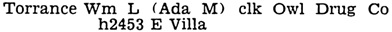 Pasadena, California, City Directory, 1938, page 634, column 2.