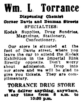 Vancouver Daily World, November 24, 1913, page 8, column 7.