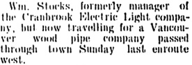 Cranbrook Herald, January 25, 1906, page 5, column 3; https://open.library.ubc.ca/collections/bcnewspapers/cranherald/items/1.0070334#p4z-4r0f: