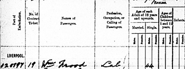 """Canada Passenger Lists, 1881-1922,"" database with images, FamilySearch (https://familysearch.org/ark:/61903/1:1:2Q92-FYC : 11 March 2018), Wm Wood, Dec 1883; citing Immigration, Halifax, Nova Scotia, Canada, C-4512, Library and Archives Canada, Ottawa, Ontario. (possible connection)."