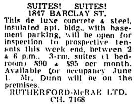 Vancouver Sun, April 25, 1953, page 45, column 5.