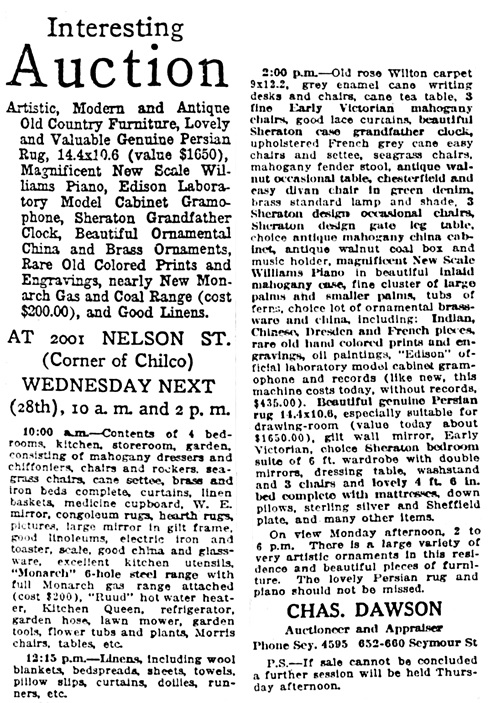 Vancouver Sun, April 25, 1920, page 45.