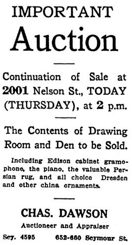 Vancouver Sun, April 29, 1920, page 13, column 7.