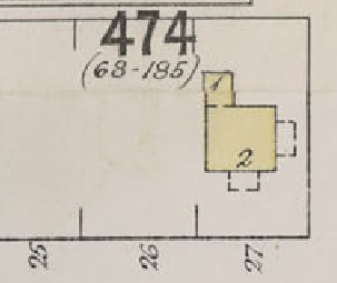 2001 Nelson Street, detail from Insurance Plan - City of Vancouver, July 1897, revised June 1901 - Sheet 43 - Coal Harbour to Comox Street and Bidwell Street to Stanley Park.
