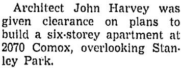 Vancouver Sun, June 19, 1953, page 27, column 2.