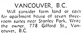 Edmonton Journal, January 22, 1949, page 20, column 4.