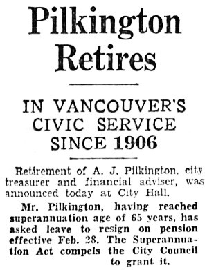 Vancouver Sun, February 20, 1935, page 1, column 1 [first portion of article].