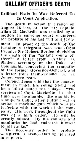 Vancouver Daily World, January 13, 1919, page 11, columns 3-4.