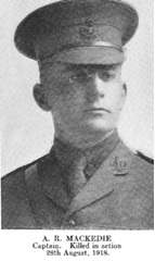 Alan Reginald Mackedie, Find A Grave, https://www.findagrave.com/memorial/56663265.