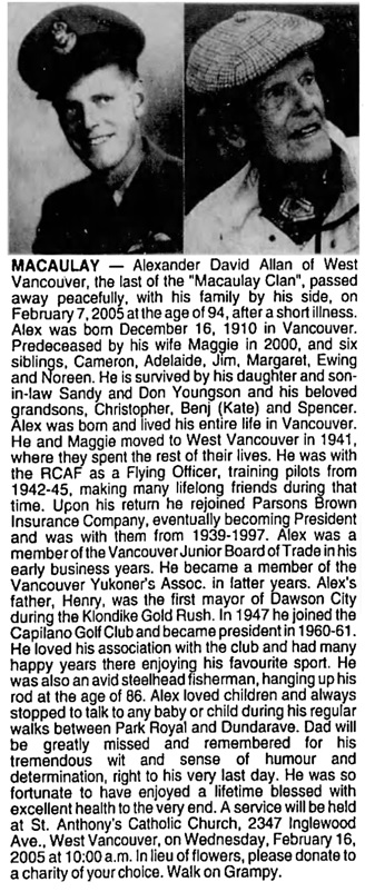 Vancouver Sun, February 12, 2005, page 45, column 1.