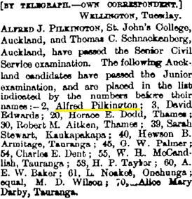 New Zealand Herald, Volume XXVI, Issue 9292, 20 February 1889, page 5; http://paperspast.natlib.govt.nz/newspapers/NZH18890220.2.27.