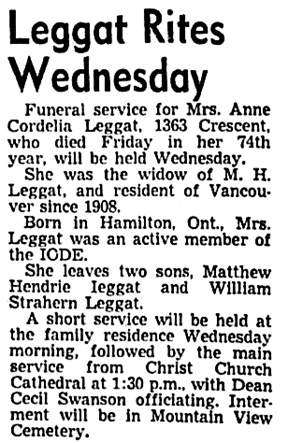 Vancouver Sun, December 28, 1948, page 20, column 5.