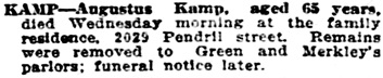 Vancouver Sun, December 19, 1912, page 15, column 3 [similar to Vancouver Daily World, December 19, 1912, page 21, column 6.]