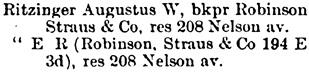 St Paul, Minnesota, City Directory, 1889, page 1105.