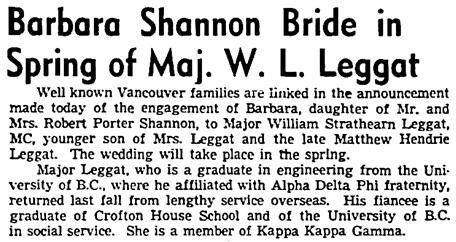 Vancouver Sun, January 29, 1946, page 15, columns 1-2.