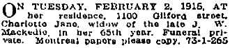 Vancouver Province, February 3, 1915, page 11.