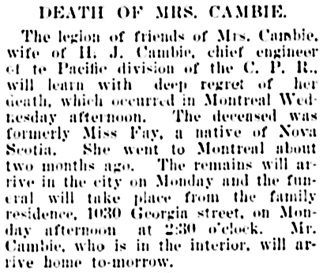 Vancouver Daily World, June 21, 1900, page 8, column 5.