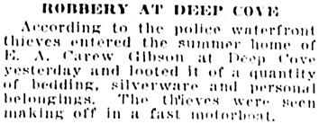 Vancouver Sun, November 8, 1921, page 12, column 3.