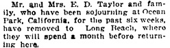Vancouver Daily World, March 30, 1911, page 2, column 2.