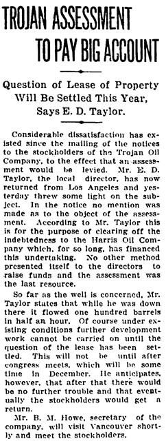 Vancouver Sun, July 15, 1915, page 5, column 2.