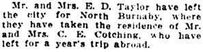 Vancouver Daily World, January 28, 1914, page 9, column 5.