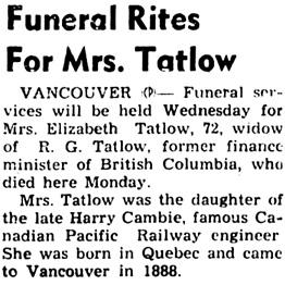Nanaimo Daily News, October 3, 1944, page 3, column 4.