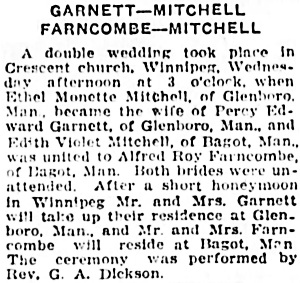 Winnipeg Tribune, November 16, 1923, page 14, columns 3-5.